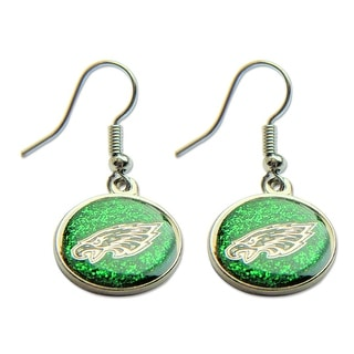 Philadelphia Eagles Glitter Sparkle Dangle Logo Earring Set Charm Gift NFL