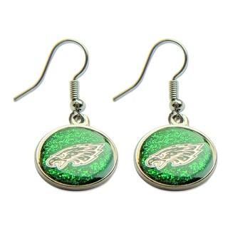 Philadelphia Eagles Glitter Sparkle Dangle Logo Earring Set Charm Gift NFL