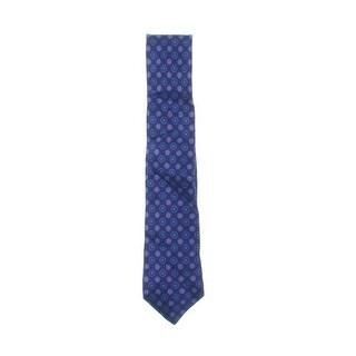 Ike Behar Mens Satin Duo Neat Neck Tie Geometric Silk - o/s