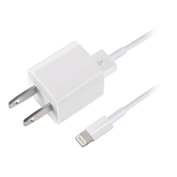 Apple Wall Travel Charger with Lightning Cable Combo Refurbished - 3.2 x 2.8 x .8. Opens flyout.
