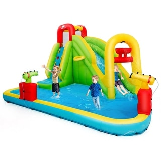 Link to Inflatable Splash Water Bounce House Jump Slide Bouncer - Multi Similar Items in Outdoor Play