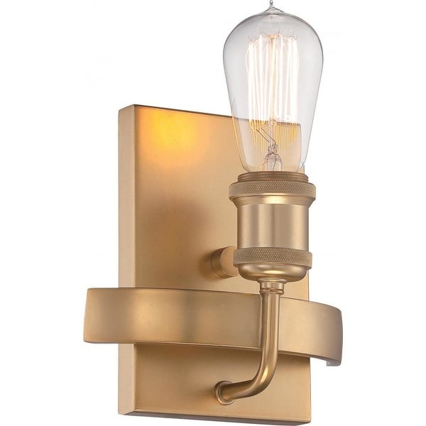 """Nuvo Lighting 60/5711 Paxton Single Light 7"""" Wall Sconce - natural brass"""