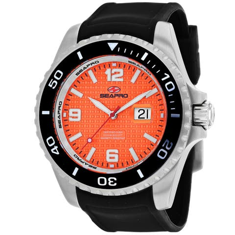 Seapro Men's Abyss 2000M Diver Watch Orange Dial Watch - SP0743 - One Size