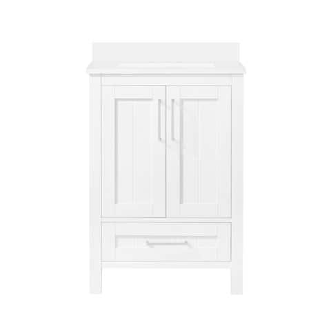"Ove Decors Kansas 24"" Bathroom Vanity Top and Backslplash, White"