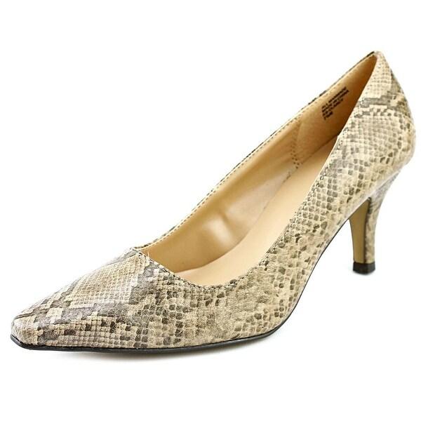 Karen Scott Clancy Women Pointed Toe Leather Brown Heels