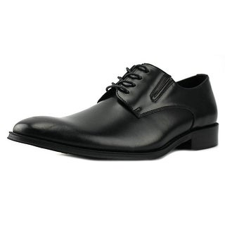 Kenneth Cole Reaction Get Even Men  Plain Toe Leather Black Oxford