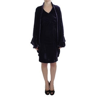 BENCIVENGA BENCIVENGA Purple Velvet Sheath Dress & Sweater Set