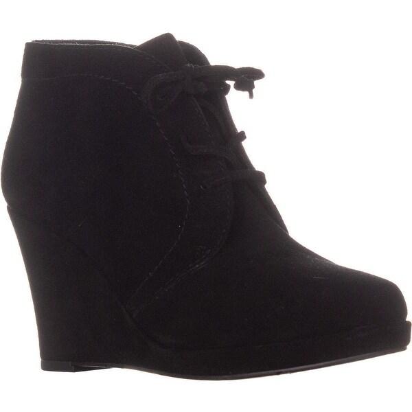 Ladies Black Wedge Ankle Boots