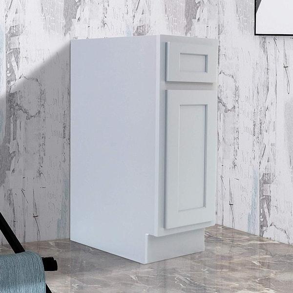 Vanity Art 12 Inch Bathroom Vanity Base Cabinet Single Right Offset Solid Wood Small Bathroom Storage Floor Cabinet On Sale Overstock 16150637