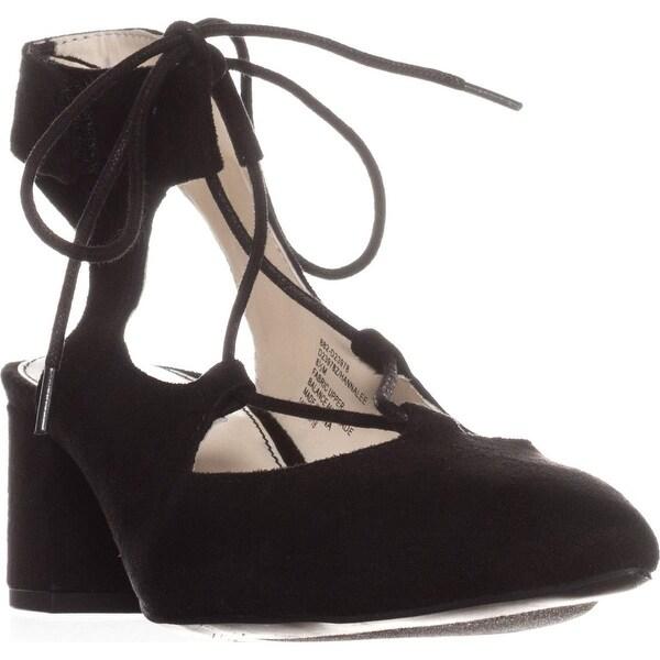 Seven Dials Hannalee Lace-Up Heels, Black