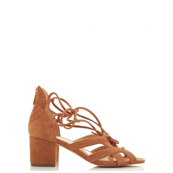 MICHAEL Michael Kors Womens mirabel mid Fabric Open Toe Casual Strappy Sandals