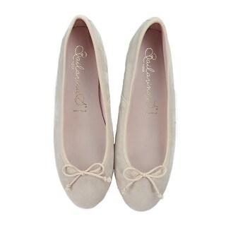 Bailarinas EMMA ATT Rosa Nude Suede Ballerina Shoes