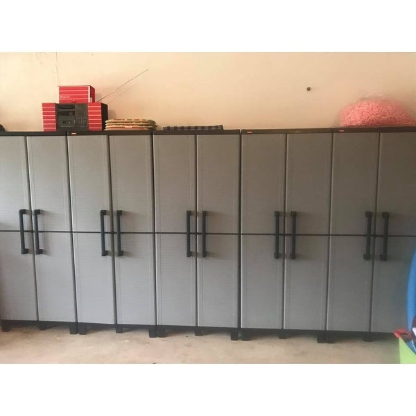 Shop Keter Space Winner Plastic Utility Storage Cabinet With Adjustable  Shelves   Free Shipping Today   Overstock.com   11780639