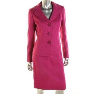 Le Suit Womens Jacquard Textured Skirt Suit - 8