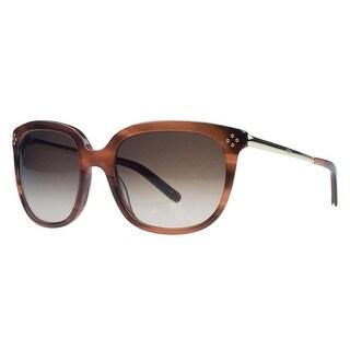 Chloe CE642/S 282 Stiped Brown Wayfarer Sunglasses