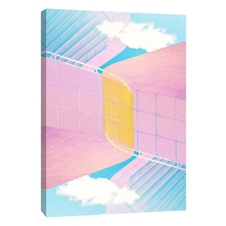 "PTM Images 9-106042  PTM Canvas Collection 10"" x 8"" - ""Folded Architecture 20"" Giclee Abstract Art Print on Canvas"