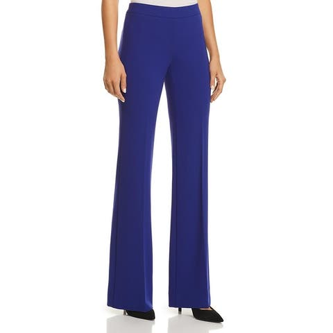 Theory Womens Clean Dress Pants Flare Leg Suit Separate - Cosmic Blue