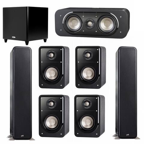 Polk Audio Signature 7.1 System with 2 S55 Speakers, 1 Polk S30, 4 Polk S15 Speakers, 1 Polk DSW PRO 550 wi Sub