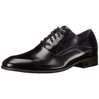 Calvin Klein Mens Von Leather Round Toe Oxfords - 11 medium (d)