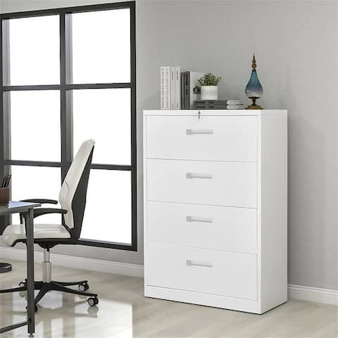 HomeOffice Lateral File Cabinet?Metal Steel filing cabinet with lock
