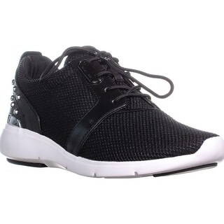 MICHAEL Michael Kors Astor Trainer Fashion Sneakers, Black Mesh - 10 us / 41 eu