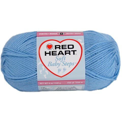 C&C Red Heart Soft Baby Steps Yarn 5oz Baby Blue