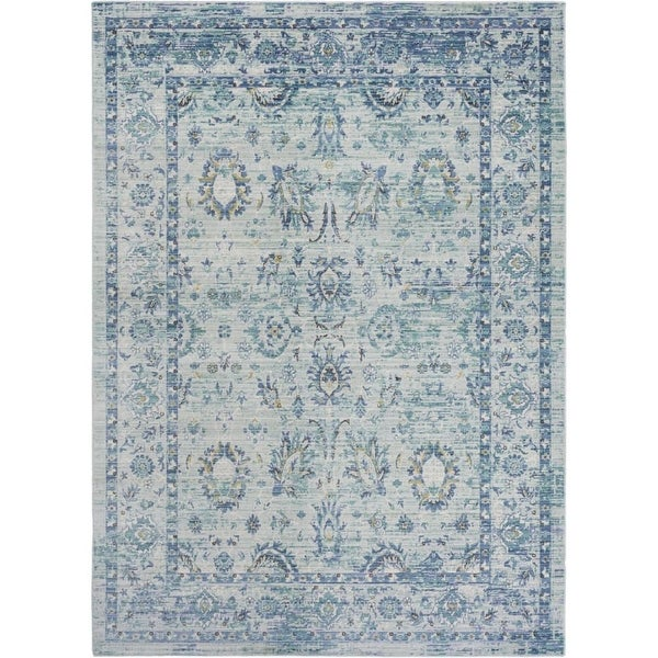 Surya GER2301-211710 Germili 3' x 8' Runner Synthetic Power Loomed Traditional A - Green - N/A