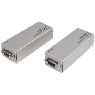 Startech 3300' Serial Db9 Rs232 Extender Over Cat 5, Silver