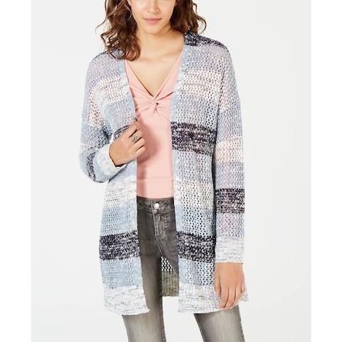 American Rag Junior's Striped Cardigan Sweater Blue Size Large