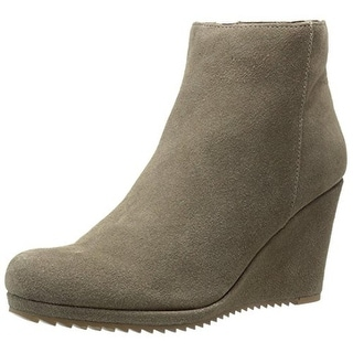 Dolce Vita Womens Piscal Wedge Boots Suede Ankle