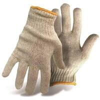 Boss 1JC1203 Poly/Cotton Natural Reversible String Knit Gloves, Large, 12/Pack