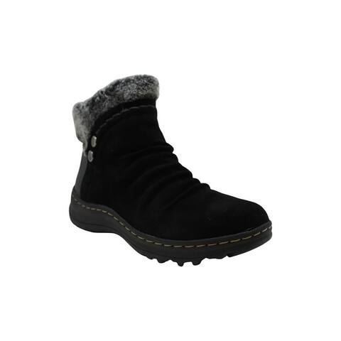 Bare Traps Women's Shoes Alick Suede Almond Toe Ankle Cold Weather Boots