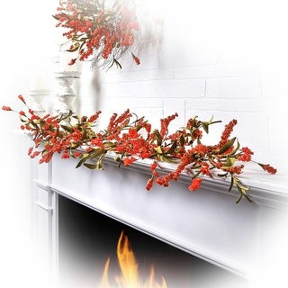 """Link to 48"""" Harvest Sorgum/Mini Hops Garland - 48-Inches Similar Items in Canvas Art"""