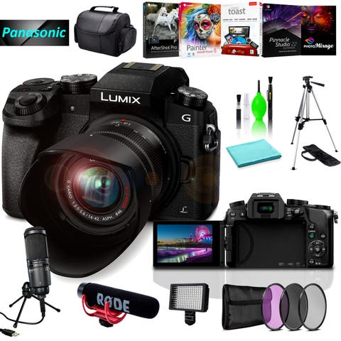 Panasonic Lumix DMC-G7 Camera with 8pc Acc Bundle - N/A