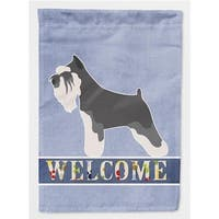 Carolines Treasures BB8298GF Miniature Schnauzer Welcome Flag Garden