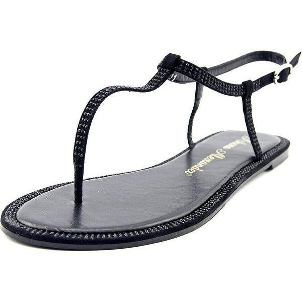 Athena Alexander Chique Women Open Toe Synthetic Black Thong Sandal