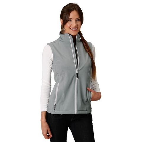Roper Western Vest Womens Soft Shell Fleece Zip