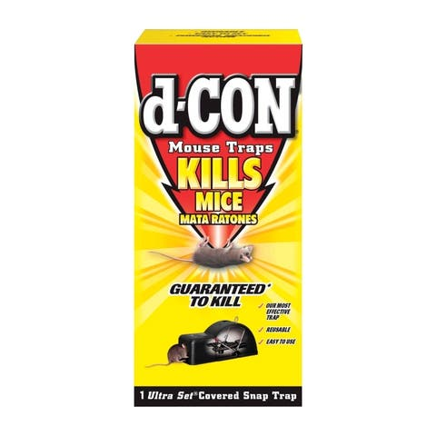 d-CON 1920000027 Ultra Set Covered Snap Mouse Trap