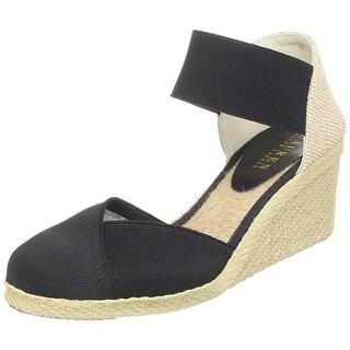 Ralph Lauren Womens Charla Canvas Closed Toe Casual Platform Sandals