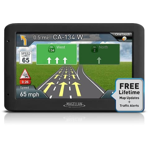 Refurbished Magellan RoadMate 5635T-LM 5-inch Automotive GPS w/ Lifetime Map & Traffic Alerts