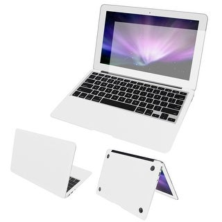"""Body Wrap Protector Decal White + Screen Film + Dust Plug for Macbook Air 11"""""""