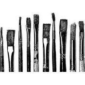 """Paint Brushes - Darkroom Door Cling Stamp 3""""X2"""""""