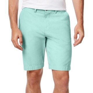 Tommy Hilfiger NEW Green Mens Size 38 Core Classic-fit Chino Shorts