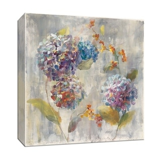 """PTM Images 9-152575  PTM Canvas Collection 12"""" x 12"""" - """"Autumn Hydrangea I"""" Giclee Flowers Art Print on Canvas"""