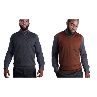 Blue Ocean Heather Sweater Vest (SV-280) (More options available)