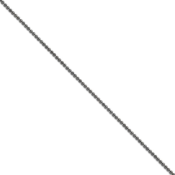 Chisel Stainless Steel 2.00 mm 18 inch Beaded Ball Antiqued Chain (2 mm) - 18 in