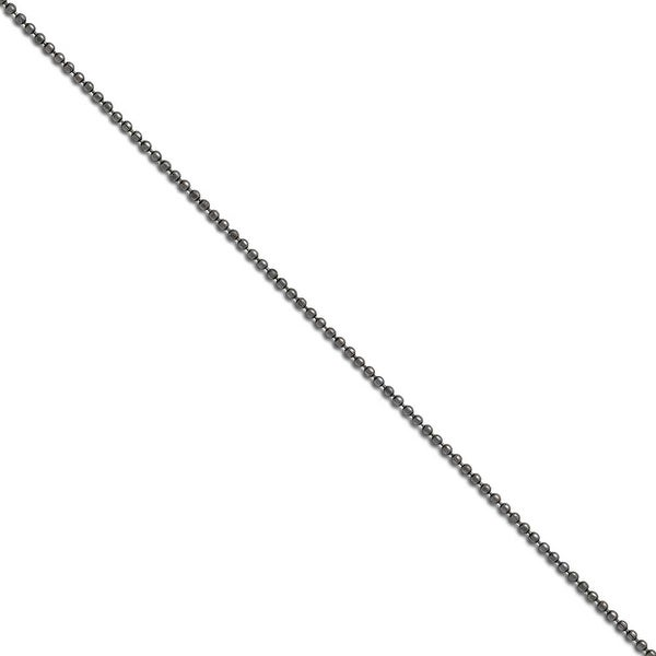 Chisel Stainless Steel 2.00 mm 24 inch Beaded Ball Antiqued Chain (2 mm) - 24 in
