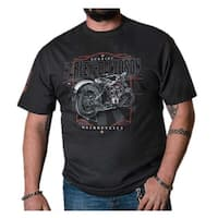 Harley-Davidson Men's 1903 Timeless Short Sleeve Crew Neck Shirt – Black