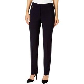 Tahari Womens Dress Pants Horizontal Zip Straight Leg