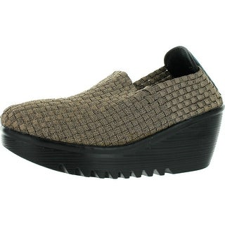 Corkys Womens Tent Casual Wedge Shoes - Bronze